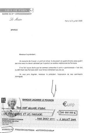 Lettre de F. Lebel à I. Brossat