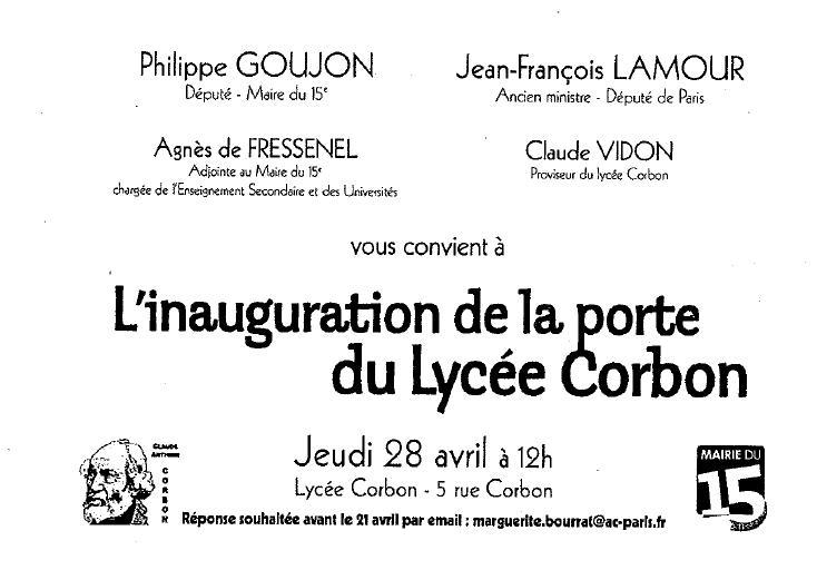 Invitation Corbon